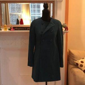 Zara turquoise wool structures coat (S)